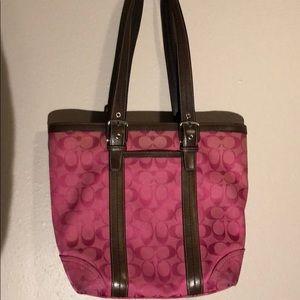 Coach signature pink purse